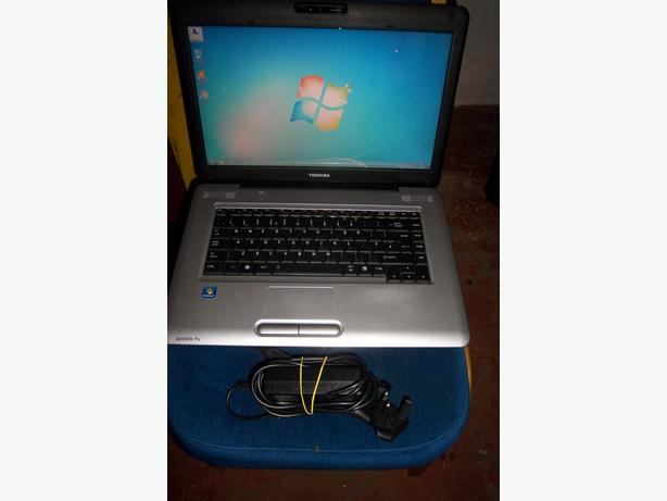 Toshiba Laptop, 2.0ghz Dual core, Windows 7, 250gb Hdd, Wifi, 2Gb Memory