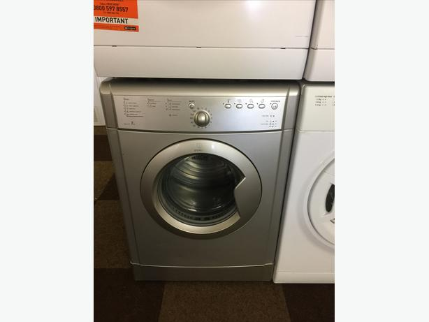 7 KG SILVER INDESIT VENTED DRYER WITH GUARANTEE🌎🌎🌎