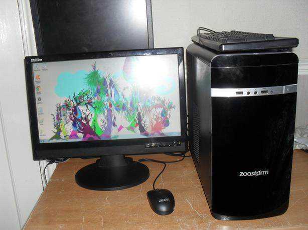pc with monitor