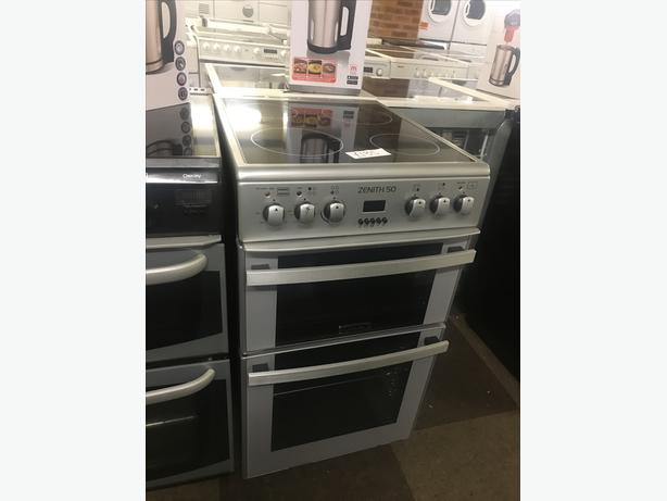 LOVELY SILVER ZENITH 50 CM ELECTRIC COOKER WITH GUARANTEE 🇬🇧🇬🇧🌎🌎🇬🇧🇬🇧