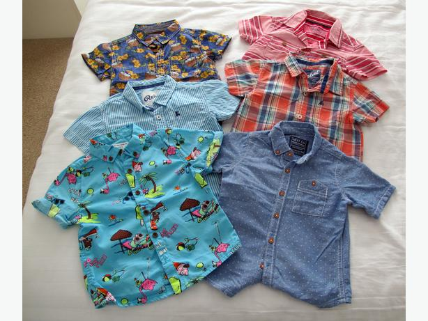 6 BOYS SHIRTS AGE ONE AND HALF TO 2 YEARS