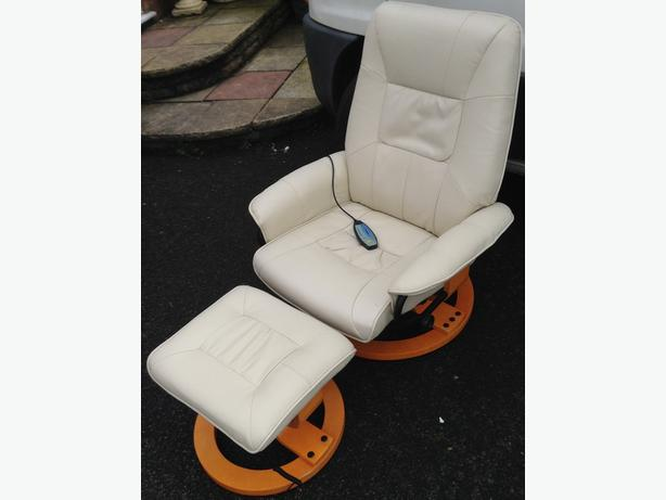Massage Chair with Stool  (Rotate & Recline)