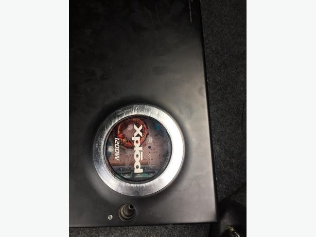 1200 sony amp.  1000 vibe speaker