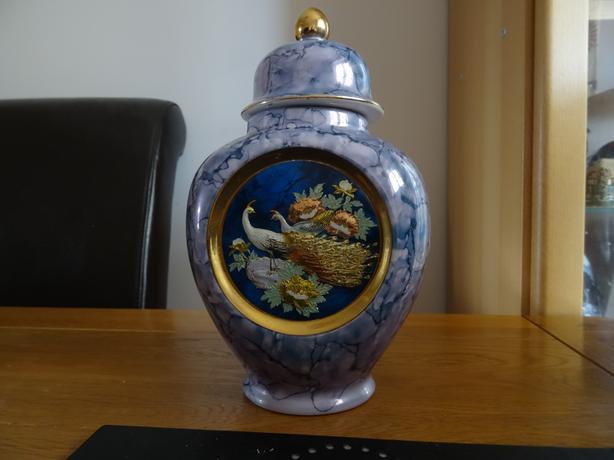 Blue Chokin vase
