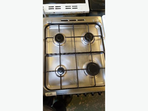 indesit silver gas cooker