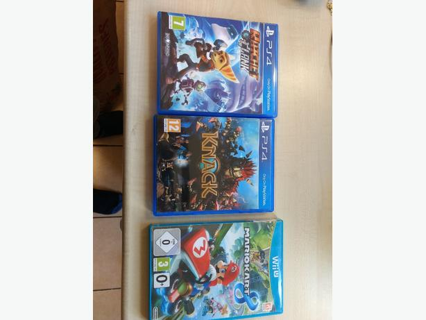 PS4 and Wii U games