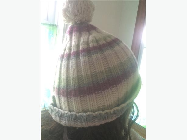 Fat face woolly bobble hat one size stripes 80% wool