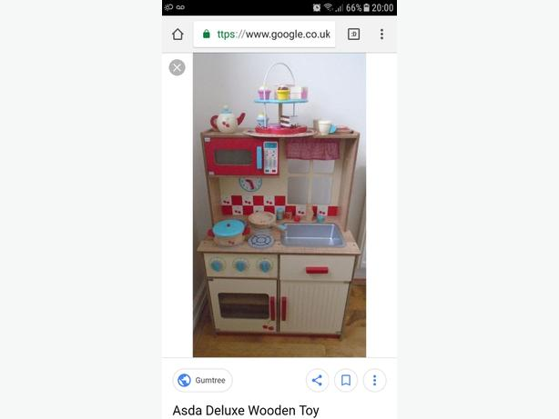 childrens wooden kitchen