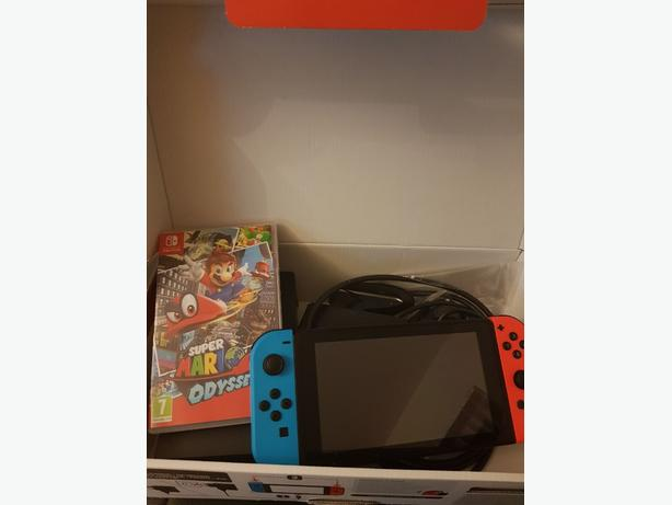 New Nintendo Switch with Mario Odyssey