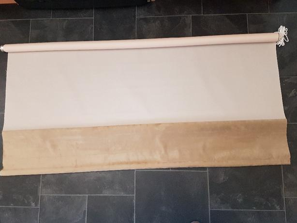 New 4ft roller blind cream & faux suede