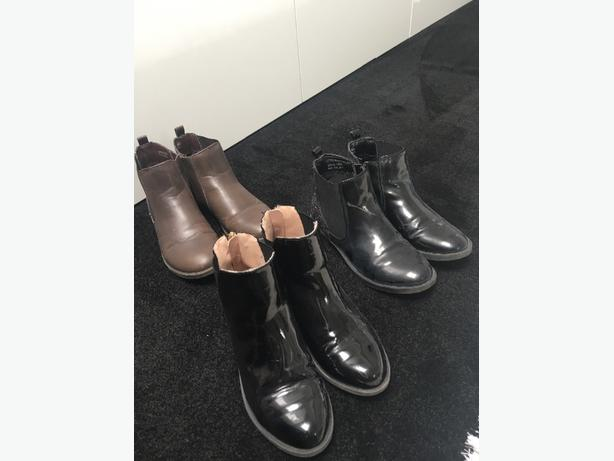 3 pairs boots size Uk 1