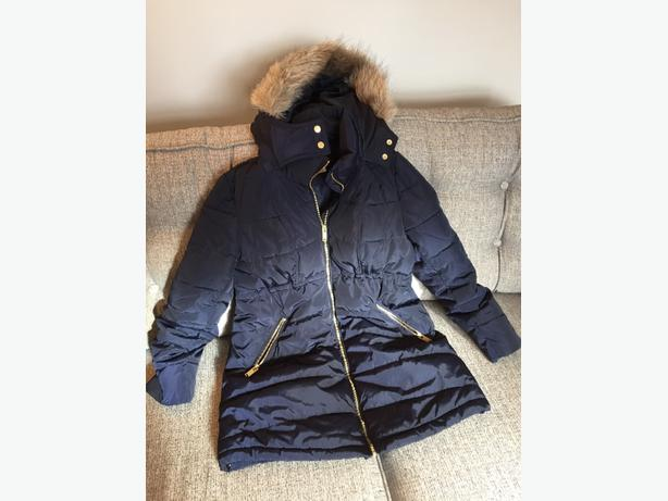 Navy maternity coat size Small