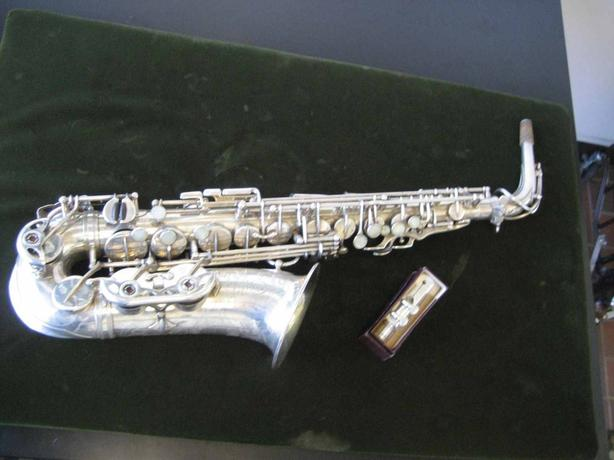 Saxophone Selmer Paris Action Alto 100% Original Silver from 1941