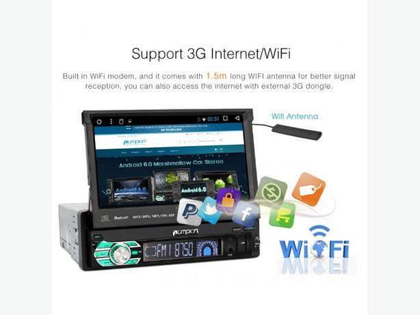 car dvd player Pumpkin Single Din Android 7.1 android full