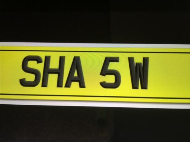 Private plate   SHA 5W