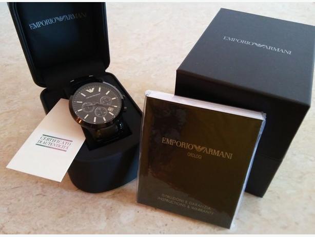 Brand New Armani watch for Men, Black color, Original box
