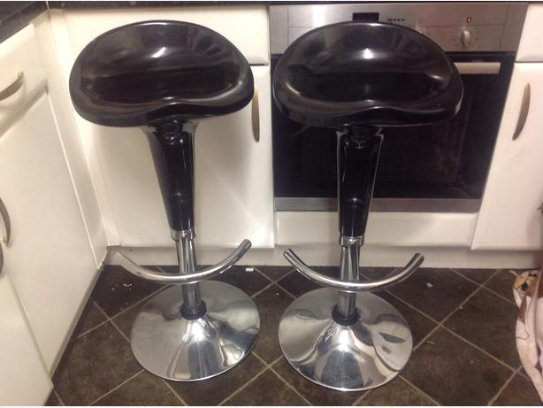 Bar stools black /sliver 2