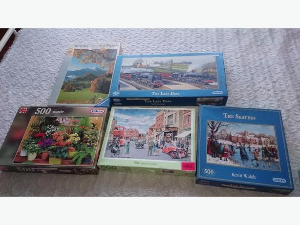 X5 500 jigsaw puzzles £2.50