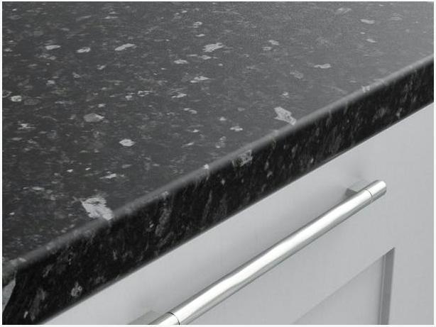 3000 x 600 x 40mm Kitchen Worktop - Black Slate Matt - BRAND NEW