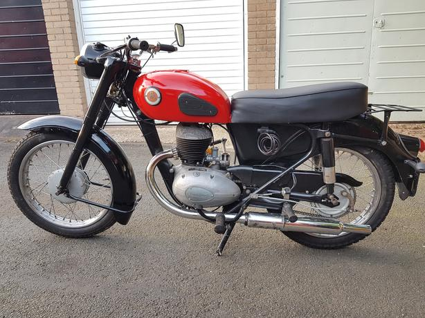 VINTAGE 1958 FRANCIS BARNETT CRUISER 225cc MOTORCYCLE TAX MOT EXEMPT VGC