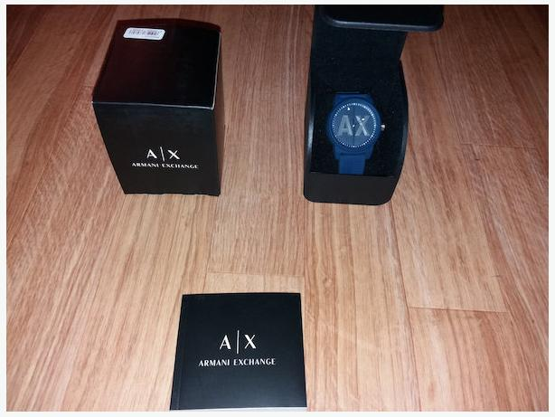Genuine Armani Exchange Men's AX1454 Blue Silicone Watch