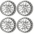 VW T5 T5.1 T6 Calibre Altus 20″ Alloy Wheels Matte Silver