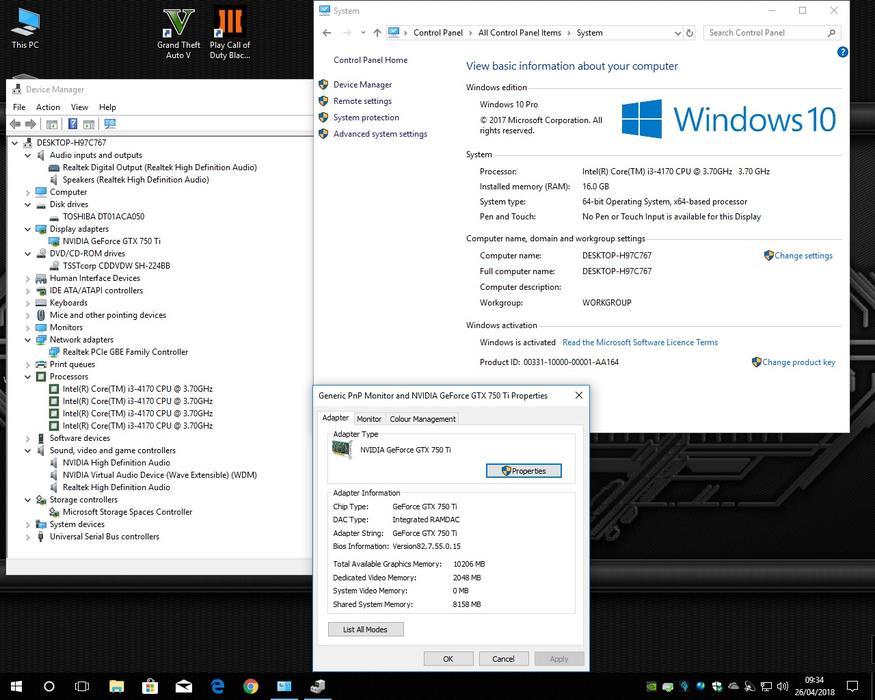 £270 · Game-Max Falcon PC - i3-4170 CPU - 16GB Memory - Palit GTX 750Ti GFX  - WIFI
