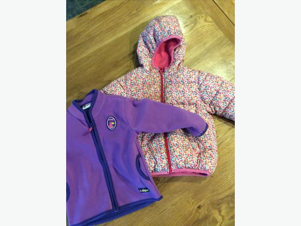 Girls Next  coat and Lego fleece