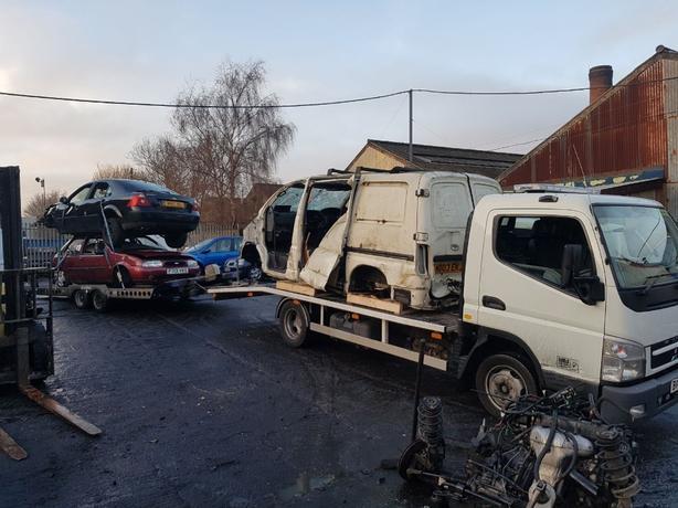 Scrap cars vans 4x4s