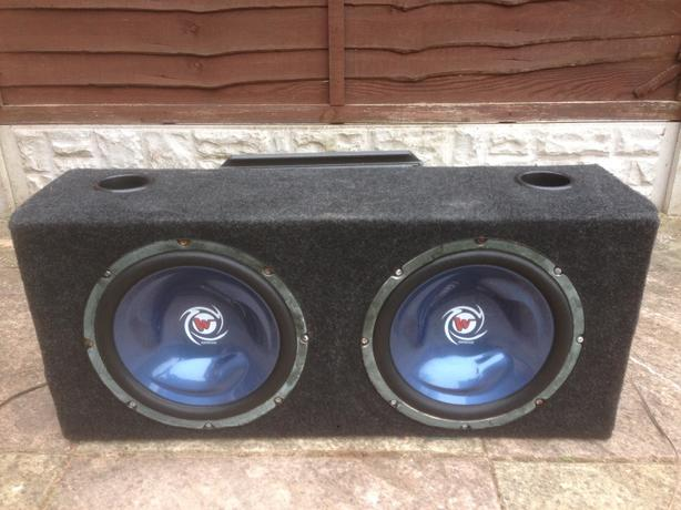  Log In needed £70 · 12 INCH TWIN KENWOOD BASS BOX 2000 WATTS WITH STEALTH  600 WATTS AMP