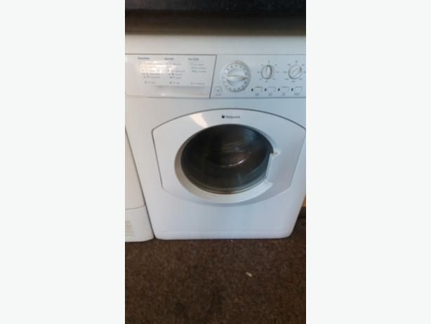 HOTPOINT WASHING MACHINE and HOTPOINT DRYER AND LOTS OF OTHER STUFF