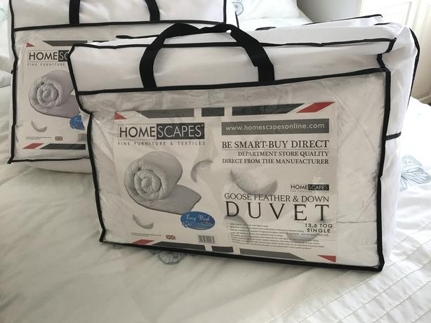 4 DUVET BRAND NEW  2 X DOUBLE 2 X SINGLE 13.5 TOG