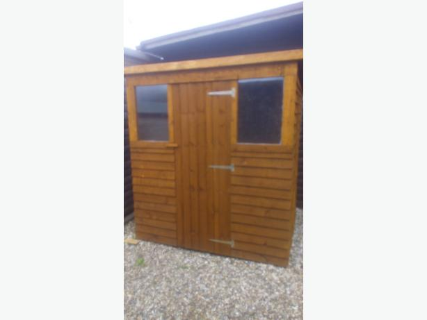 6 by 4 foot f;e shed suplied and fitted