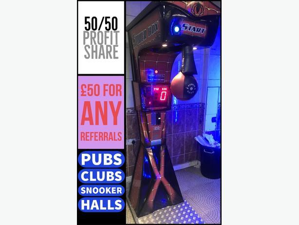 Boxer machine hire 50/50 split