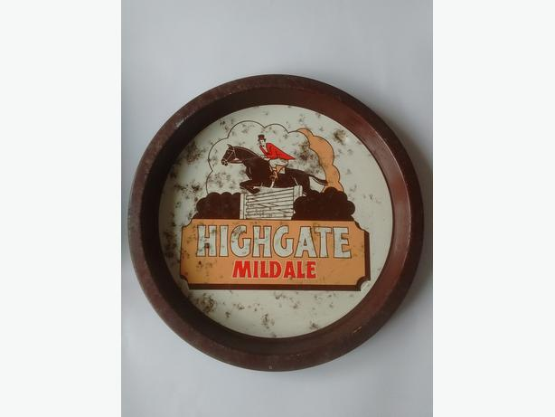 Original 1970's  Advertising Tray - Highgate Mild Ale - Walsall Brewery