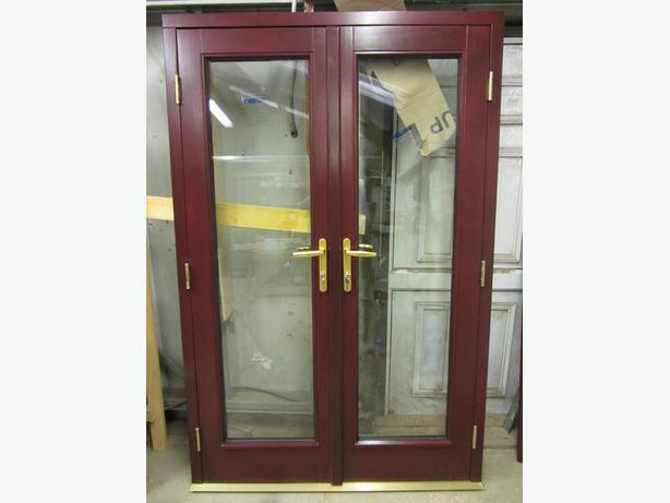 Brand New Mahogany Upvc French Doors 1600mmx2100mm Outside Black