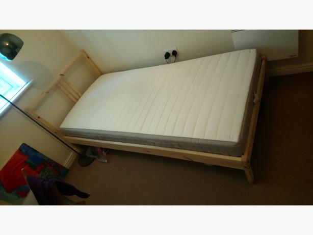 single Ikea bed + mattress, nearly new!