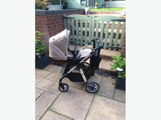 silver cross pioneer pushchair, carrycot and car seat