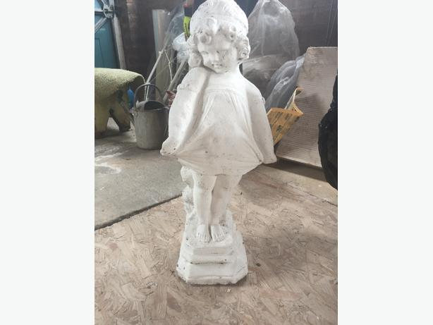 stone girl garden ornament
