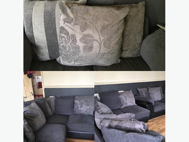 Grey corner sofa & Matching 2 seater