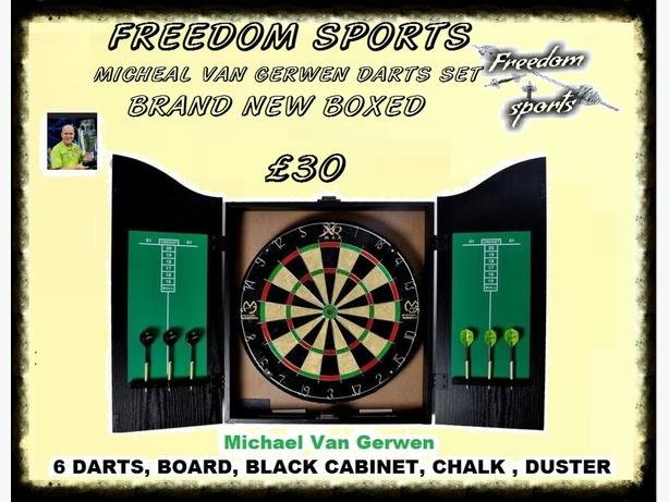 Van Gerwen XQ  FULL MATCH STANDARD BOARD AND CABINET £25