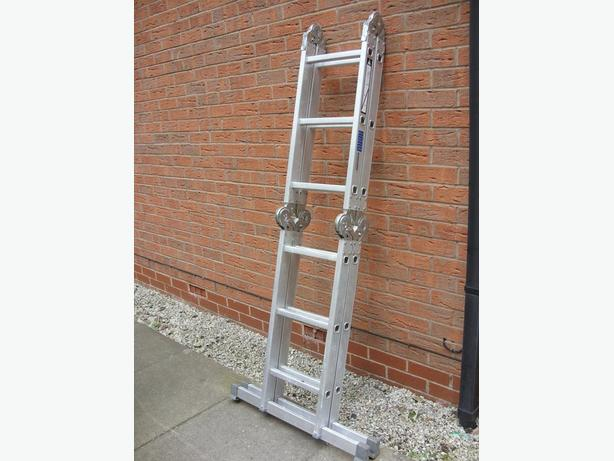 Abru Multi Purpose Folding Combination Aluminium Ladders with Interlocks