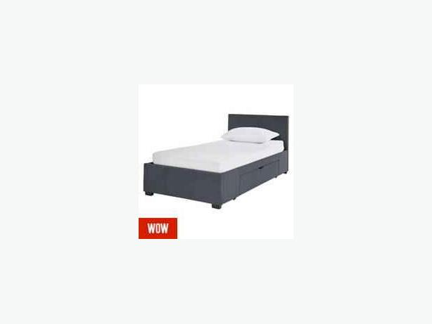 black leather single bed