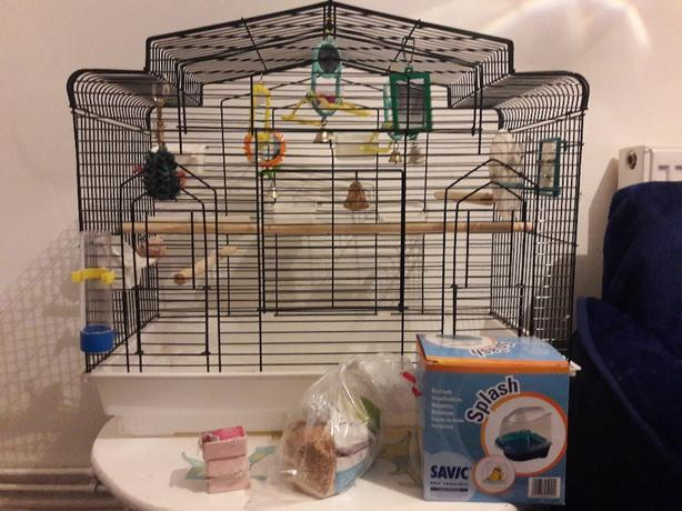 FOR TRADE: Budgie Cage and Budgie Food