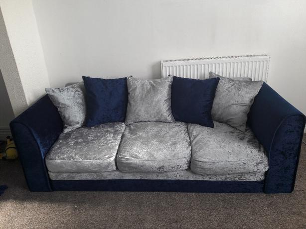 3 seater Crushed Velvet Sofa