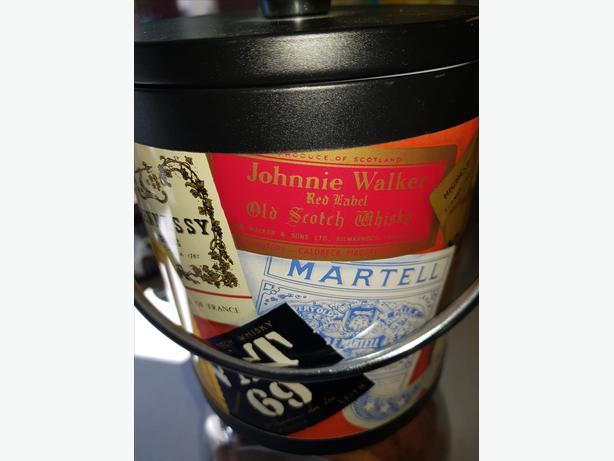 RETRO 1970's Various Whiskeys Ice Bucket