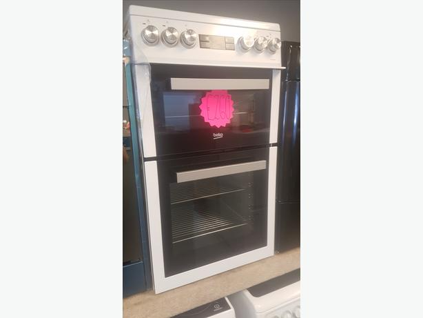 NEW Beko XDVC5XNTW 50cm Electric Double Oven Cooker with WARRANTY | RRP £330