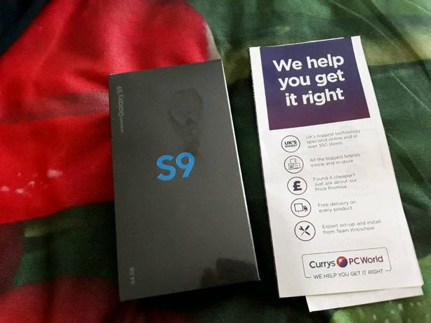 New sealed Samsung Galaxy S9 64GB with RECEIPT