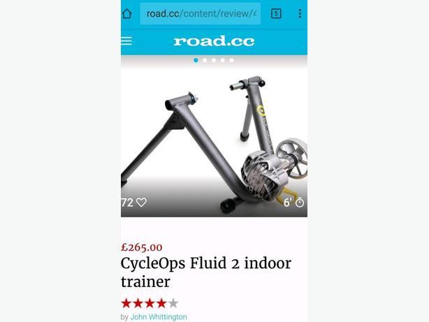 CycleOps indoor fluid bike turbo trainer