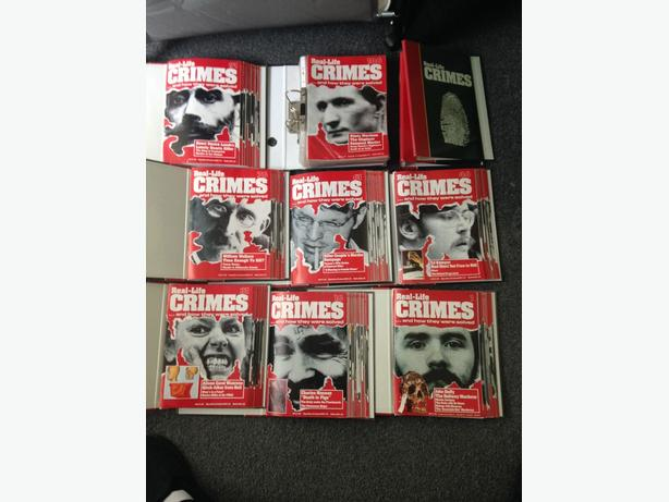 SET OF REAL LIFE CRIME MAGAZINES WITH BINDERS